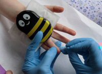 Buzzy can help with Blood Glucose Testing